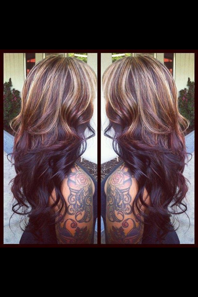 Love this...like the dark underneath and the highlights on top