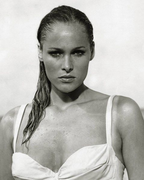 Ursula Andress, première James Bond Girl dans «James Bond contre Docteur No», 1962.