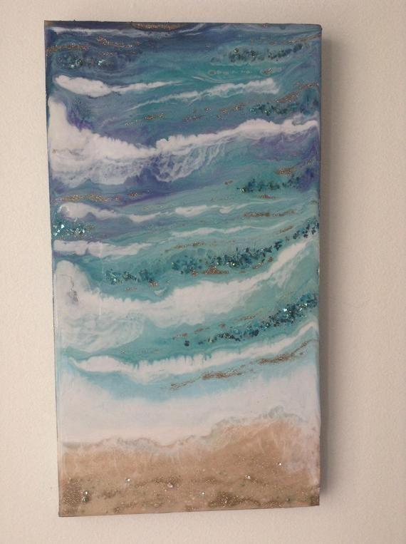Resin Ocean Art Beach Theme Decor Epoxy Resin Wall Art Resin