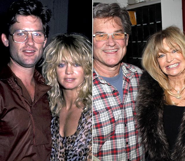 Goldie Hawn and Kurt Russell. Tried to find a picture of Kurt when old to compare with Chriss and Jeff