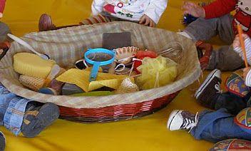 El cesto de los tesoros para ni os pinterest - Cesto para mantas ...
