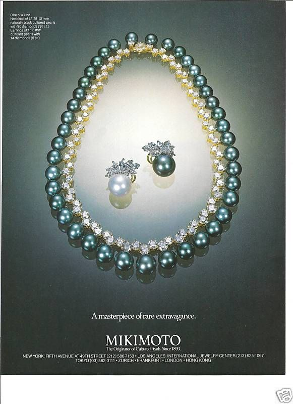 Mikimoto pearls...a poster