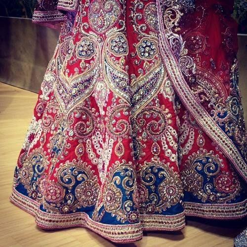 ♥ lengha ♥ bridal lehenga ♥ Indian ♥ fusion ♥ wedding ♥ dress ♥