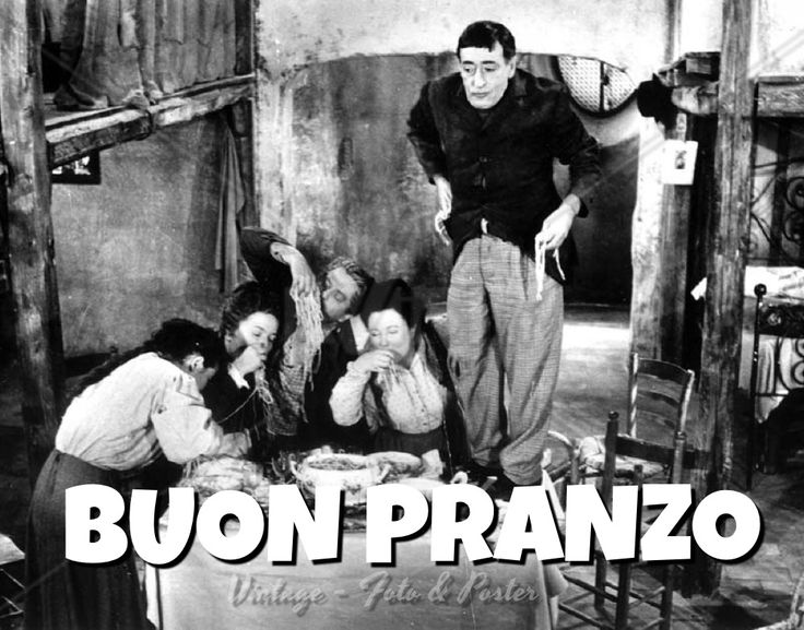Buon Pranzo -  follow https://www.facebook.com/pages/Vintage-Foto-Poster/360829000695130
