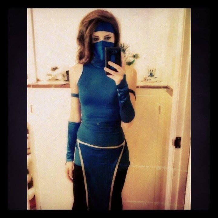 kitana from mortal kombat a modest mk2 version cosplay by kasandra huff halloween - Mortal Kombat Smoke Halloween Costume