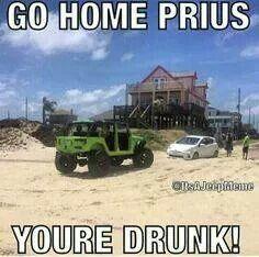 Go home Prius...you're drunk