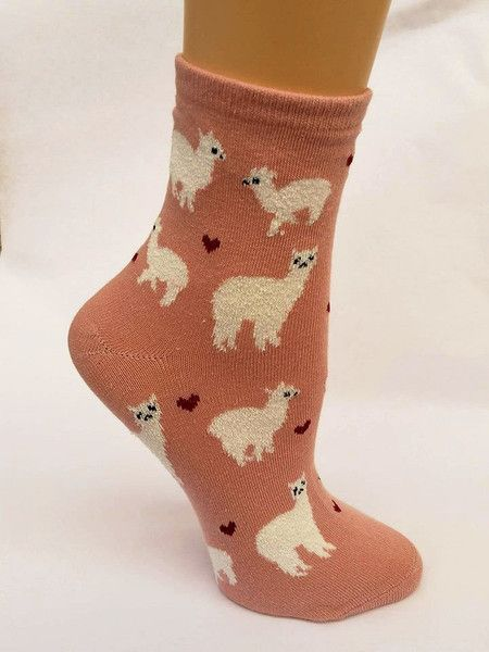Alpaca Love Ankle Height Cotton Socks