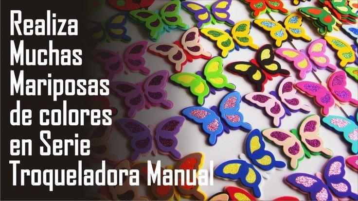 Como hacer mariposas de colores - Troqueladora manual Ideas San valentin