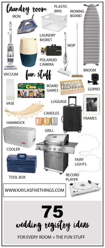 75 wedding registry ideas | wedding registry checklist | wedding registry must haves | Kayla's Five Things