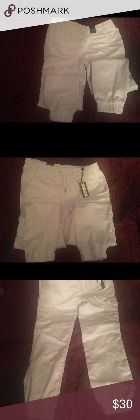 White Jogger Jeans Riflessi collection Premium edition Jogger Jeans White size XL Jeans Skinny