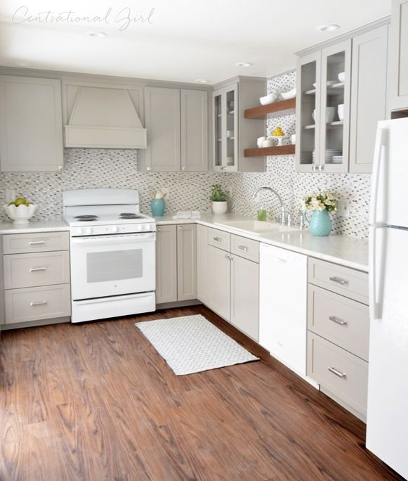 Painted Cabinets With Existing White Counter Tops Centsational Girl Used Formica Carrara Bianco In Ideal Edge Countertops Gray And Kitchen Corner
