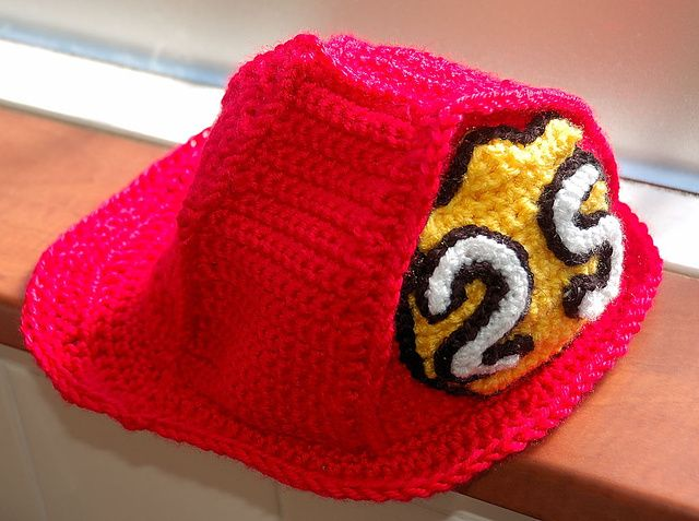 A Ravelry Download Only: Child's Fireman Hat pattern by Carla Croissant