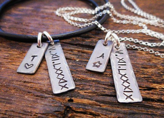 His And Her Jewelry Personalized Matching By Organicrustcreation