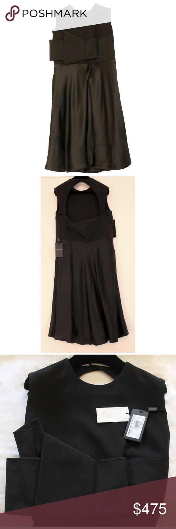 Armani dress new 100% pure silk Oriental look new Armani dress pure silk black Giorgio Armani Dresses Midi