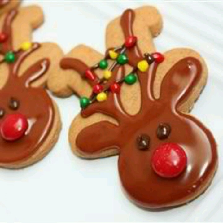 upside down gingerbread men turned into reindeers