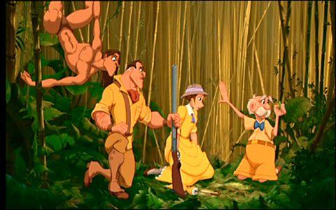 Tarzan, Clayton, Jane & Mr. Porter