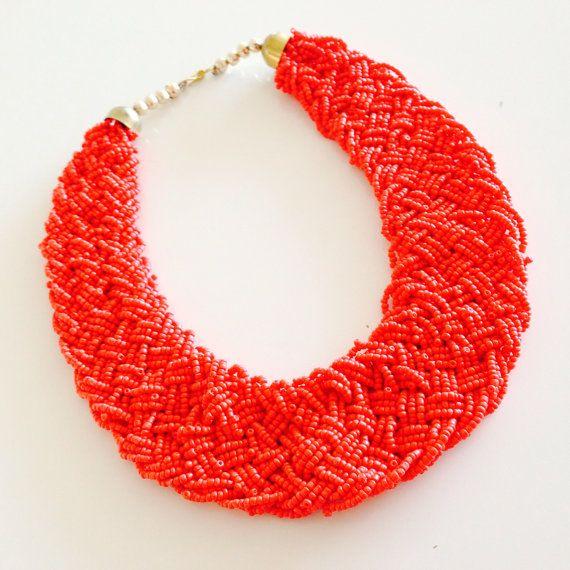 Choker necklace/bib necklace/wedding jewelry/statement by sudarium