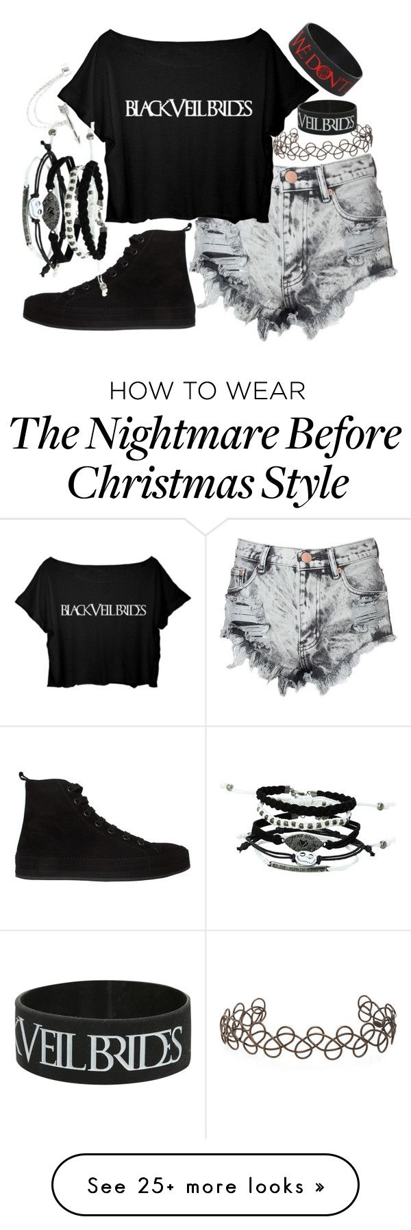 """""""Black Veil Brides"""" by thefangoddess on Polyvore featuring Glamorous, Ann Demeulemeester, Acne Studios and claire's"""