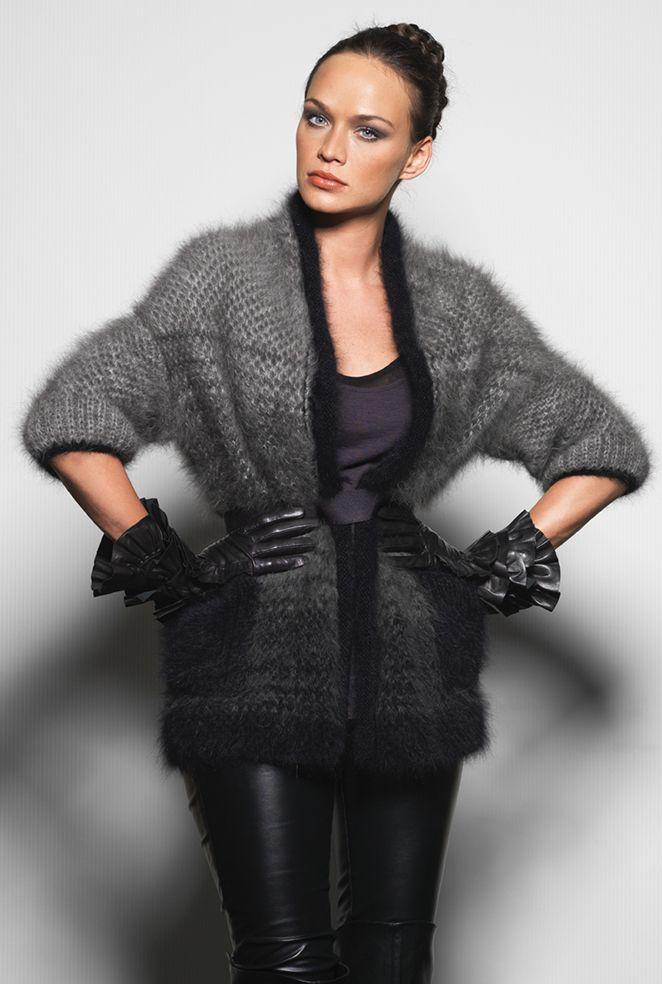 Anny Blatt (French pattern/yarn company), Collection Couture No. 207.  Use Rowan Angora Haze?