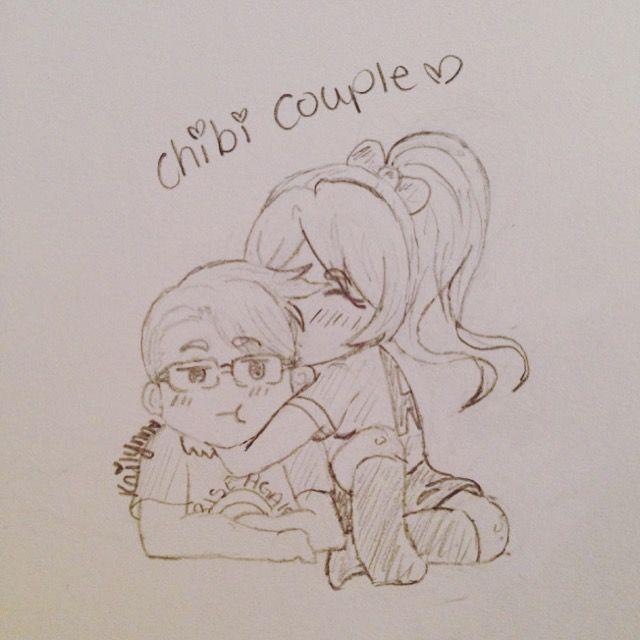 Drawing Of Chibi Couple My Boyfriend And I