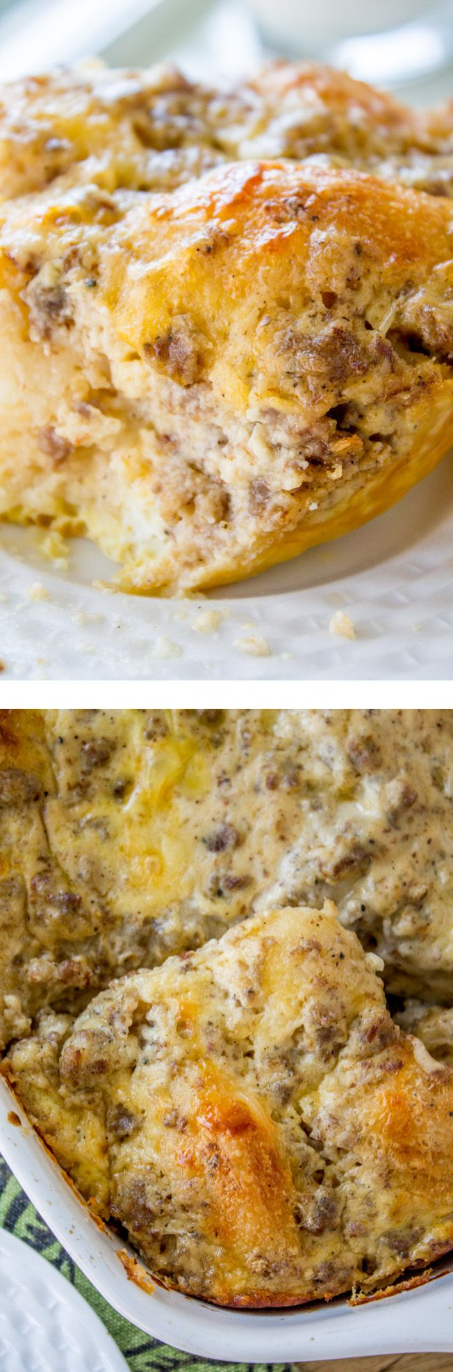 All Things Savory: Overnight Biscuits and Gravy Casserole - The Food ...