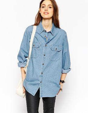 ASOS   ASOS Denim - Camicia di jeans lavaggio scuro su ASOS