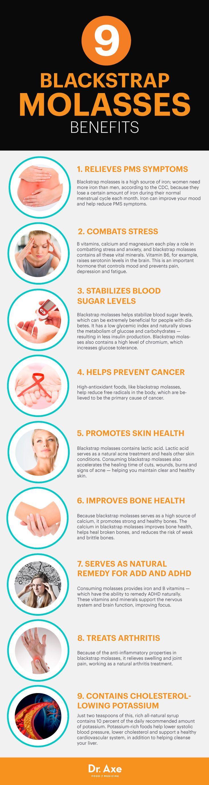 Blackstrap molasses benefits - Dr. Axe www.draxe.com #health #holistic #natural