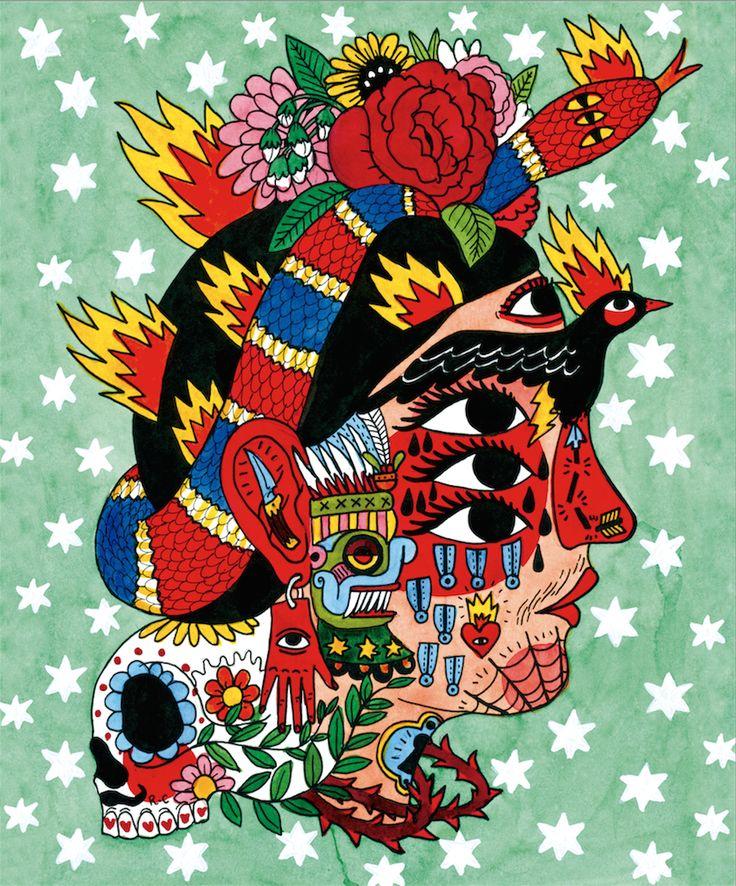 Frida – Ricardo Cavolo   ricardocavolo.com (870×1048)