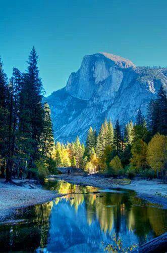 Half Dome, Yosemite, California, USA (been here,  beautiful scenery!!)