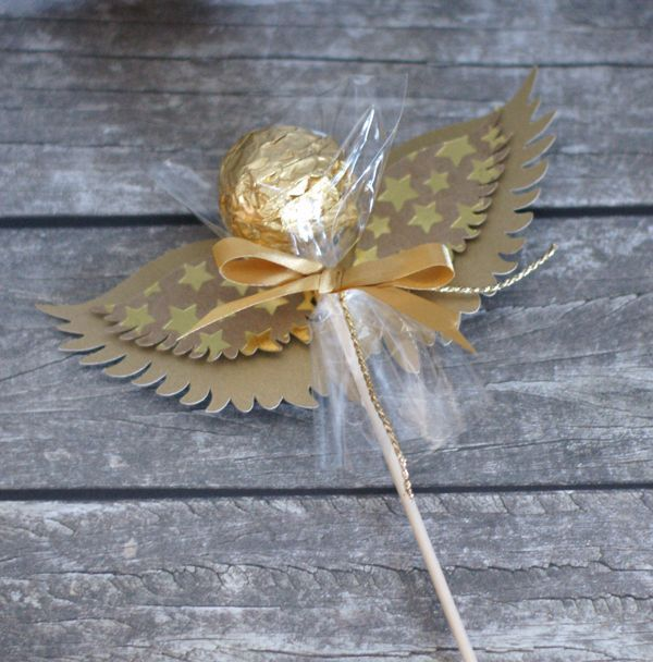 Rocherengel, wraping chocolate, ángel del chocolate, rocher ferero con alas: