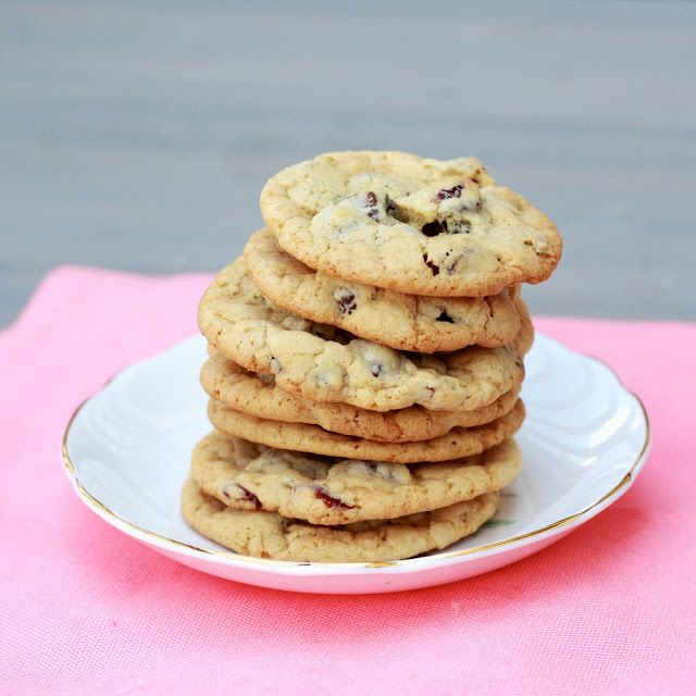 soft & chewy cranberry pecan chocolate chip cookies