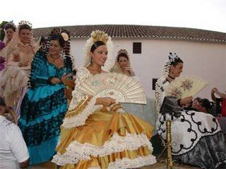 Goyesca dress, Spain. Click through for more on Goyesca bullfighting in Ronda, a midcentury tradition begun under Franco.