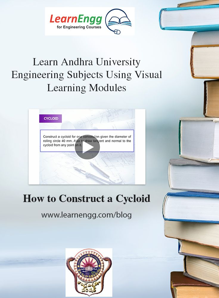 You can now visually and easily learn complex Engineering topics of Andhra University using LearnEngg visual modules. Here is a sample video of 'How to Construct a Cycloid' For more visual modules, visit our website: [Click on image] #learnengg #engineering #andhrauniversity