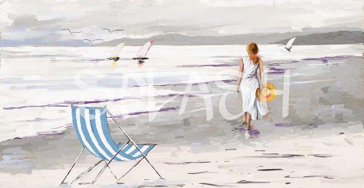 Cuadro de mujer paseando por la playa SP118 #cuadro#moderno#decorativo#marina