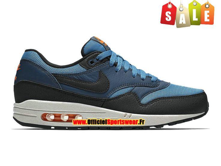 Nike Air Max 1/87 Essential - Chaussures Nike Sportswear Pas Cher Homme Bleu  stratus