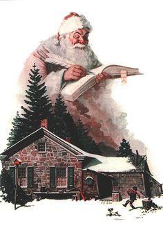 Santa's Christmas List - Norman Rockwell, 1924 | von Jon Williamson