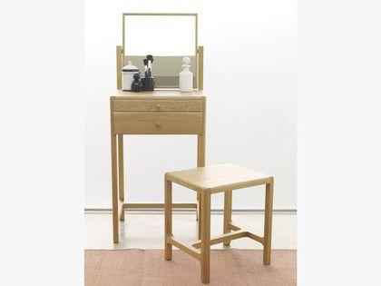 LIMBO NEUTRAL Wood Oak dressing table and stool - HabitatUK