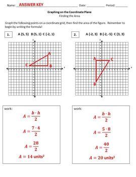 GRAPHING FIGURES ON A COORDINATE PLANE {TO CALCULATE AREA} - TeachersPayTeachers.com
