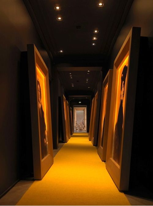 I like the giant paintings. Gallery of Portrait Paintins at Veuve Clicquot's Hotel du Marc.