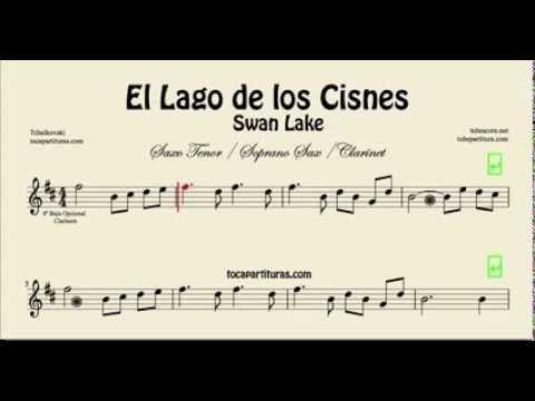 diegosax: El Lago de los Cisnes de Chaikovsky Partitura de Flauta, Saxo Alto, Violín, Clarinete, Trompeta, Saxofón Tenor, Tuba, Bombardino, Viola, Chelo, Fagot, Oboe, Sax Soprano, Trombón Tablatura y Partitura del Punteo de guitarra (Tabs)
