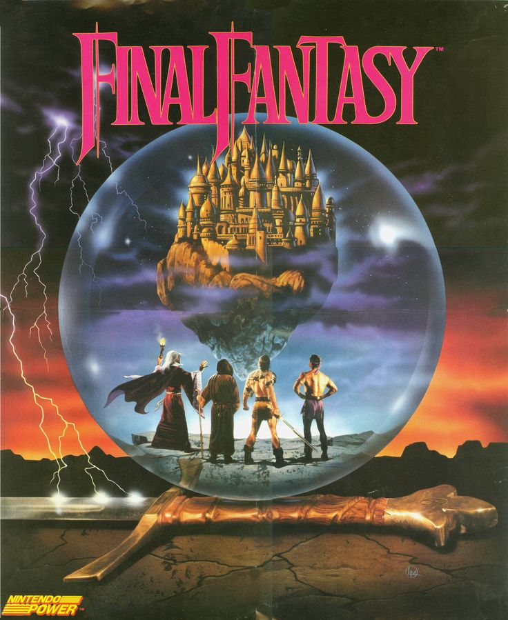 Nintendo NES Ad - Final Fantasy (Nintendo Power #12)