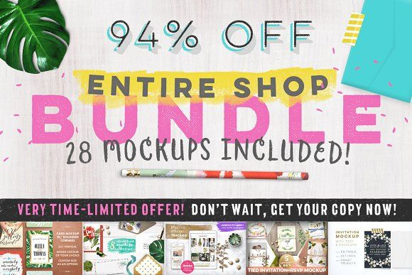 [94% off] Entire Shop Bundle by Hype Your Prints on @creativemarket