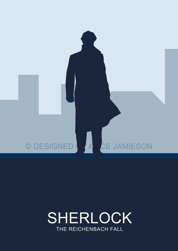SHERLOCK The Reichenbach Fall Minimalist Modern by AliceJamieson, £8.00
