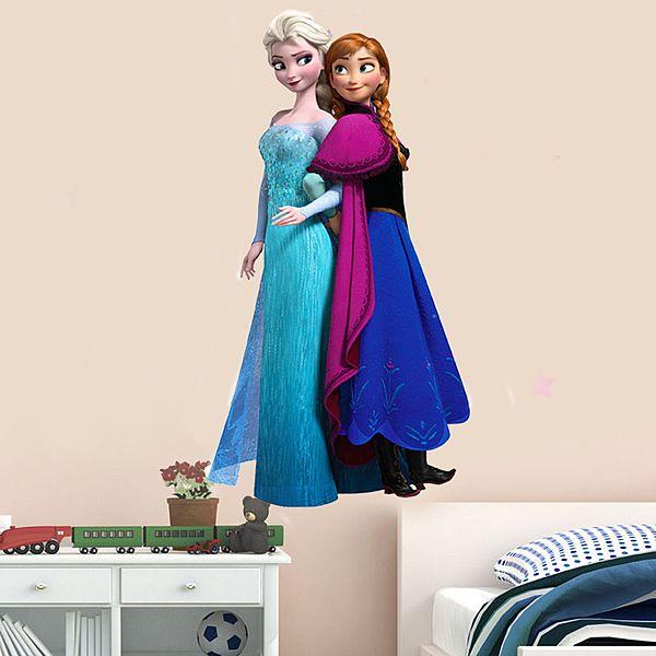 Frozen wallsticker med Anna og Elsa