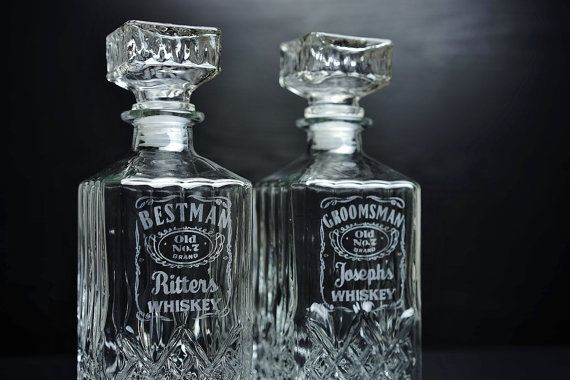 6 Sets Groomsmen Gift Personalized Whiskey by AnnaEngraving