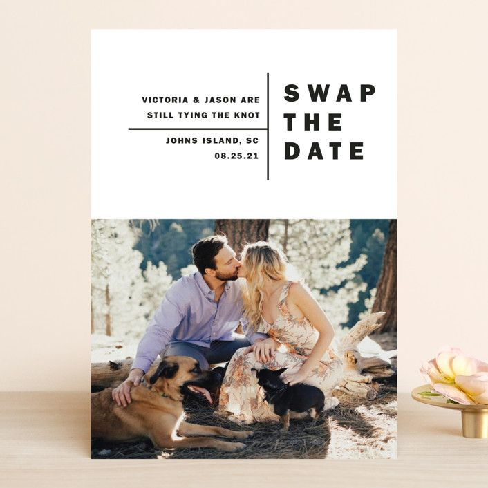 Baseline Change The Date Cards In Midnight By Alethia Frye In 2020 Wedding Announcements Save The Date Postcards The Knot Wedding Website