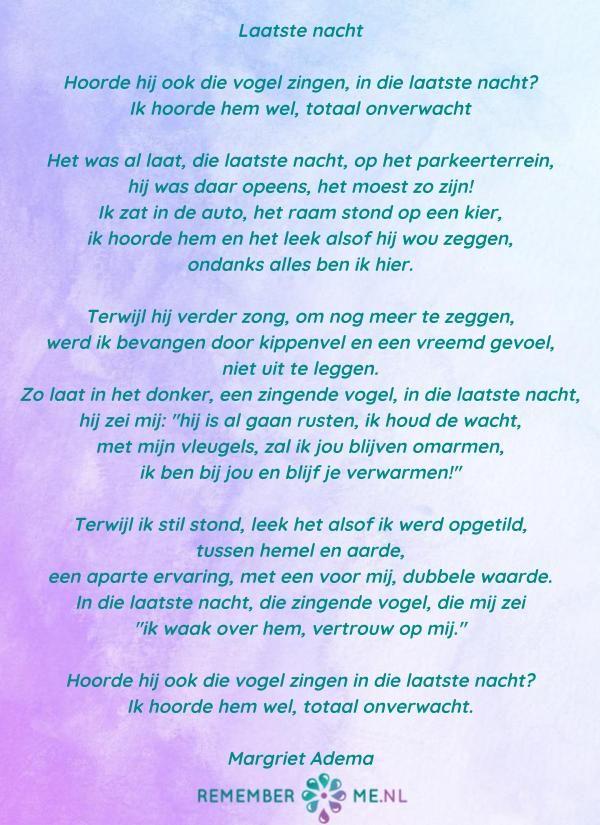 Ongebruikt Lees gedichten over rouw en verlies (met afbeeldingen WN-52