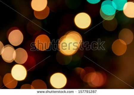 blurred lights of Christmas tree