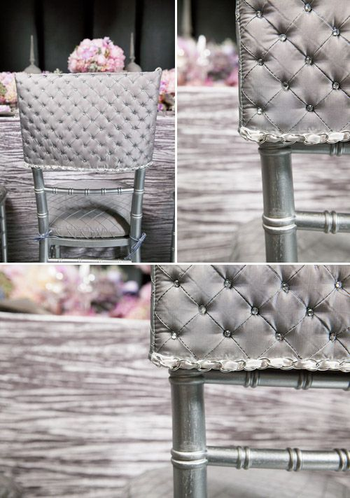 coco chanel inspired wedding decor photo shoot chair covers wedding and weddings. Black Bedroom Furniture Sets. Home Design Ideas