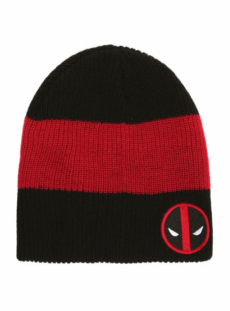 Deadpool Bugle: Deadpool Beanie. i actually own this beanie, got it at Hot Topic best money ever spent.